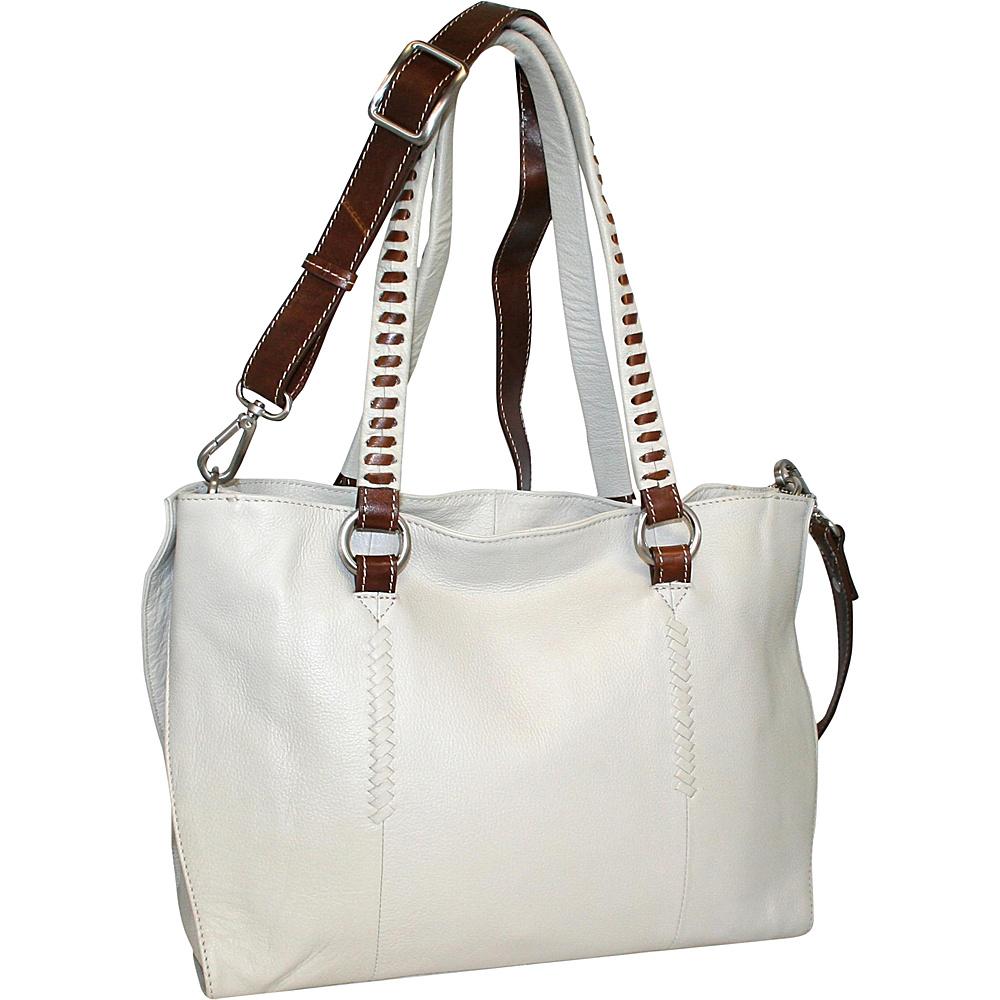 Nino Bossi Ruby Tuesday Shoulder Bag Bone Nino Bossi Leather Handbags