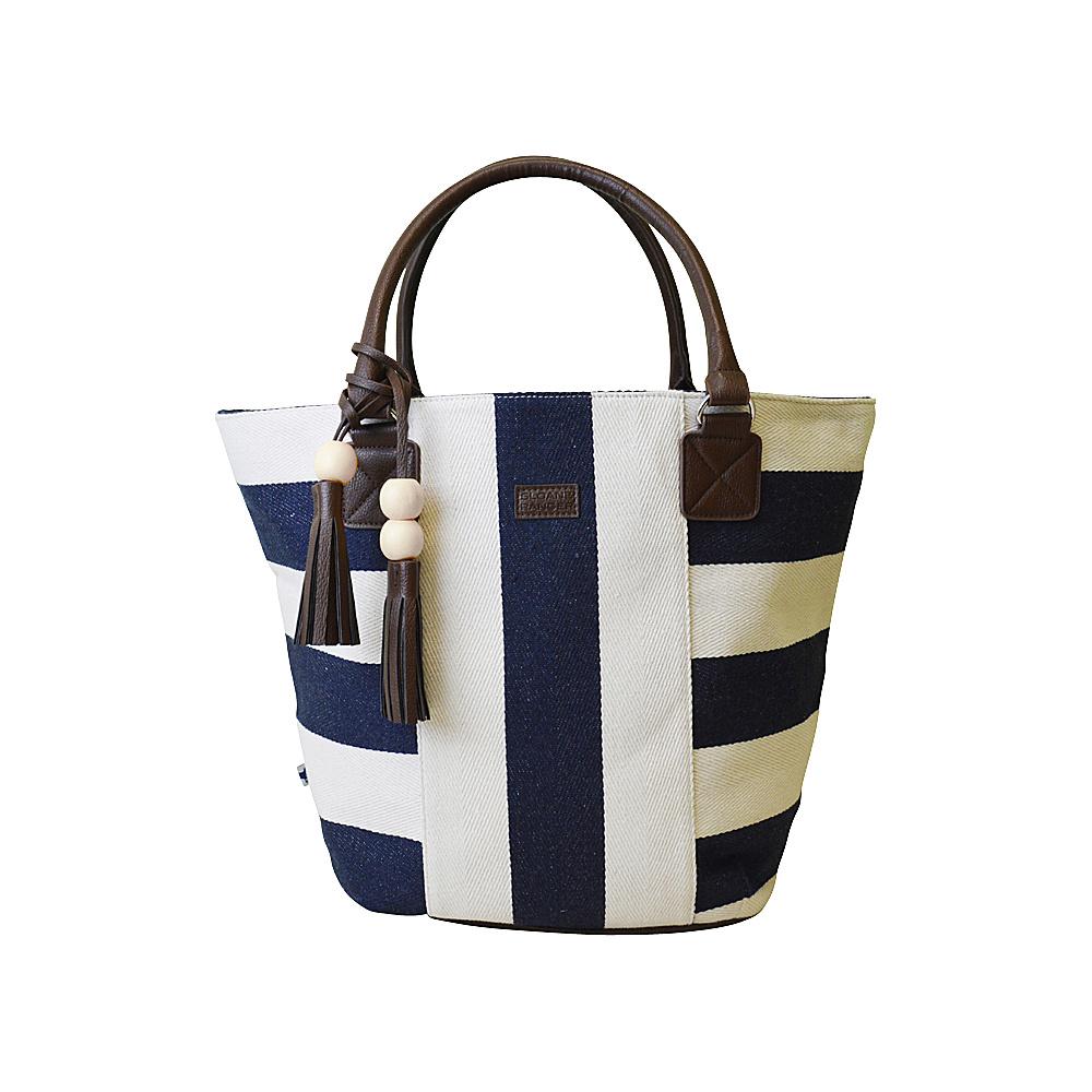 Sloane Ranger Tassel Tote Classic Navy Sloane Ranger Fabric Handbags
