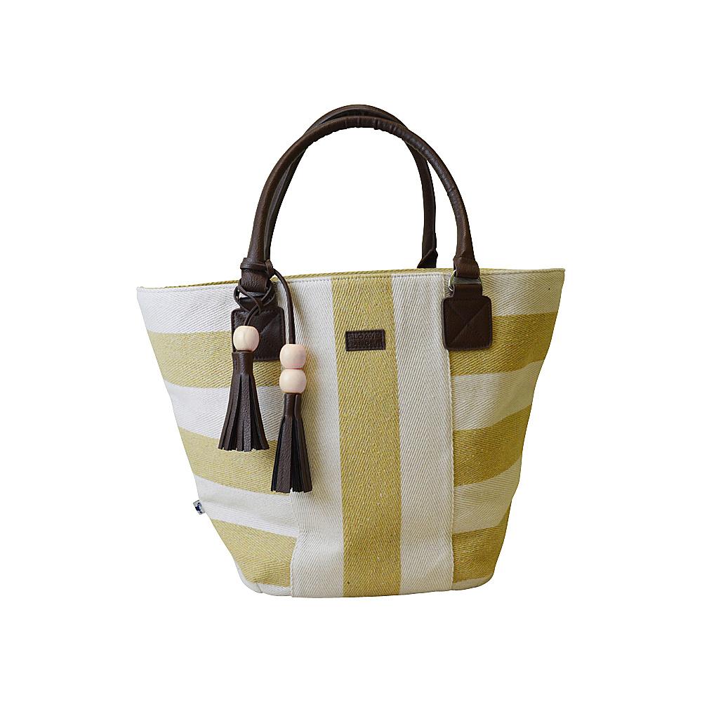 Sloane Ranger Tassel Tote Varsity Gold Sloane Ranger Fabric Handbags