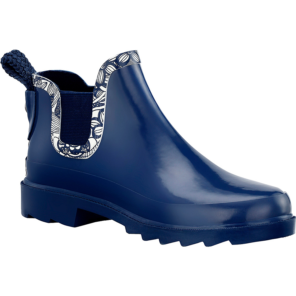 Sakroots Rhyme Ankle Rain Boot 8 - M (Regular/Medium) - Navy Spirit Desert - Sakroots Womens Footwear - Apparel & Footwear, Women's Footwear