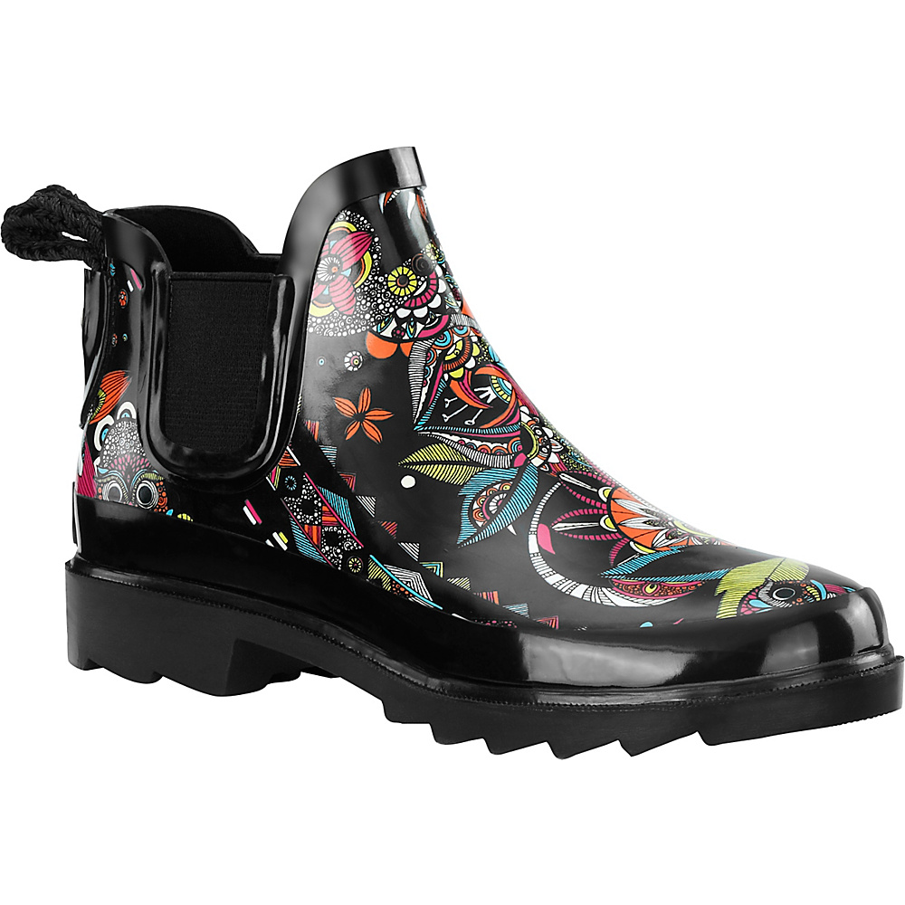 Sakroots Rhyme Ankle Rain Boot 8 - M (Regular/Medium) - Neon Spirit Desert - Sakroots Womens Footwear - Apparel & Footwear, Women's Footwear