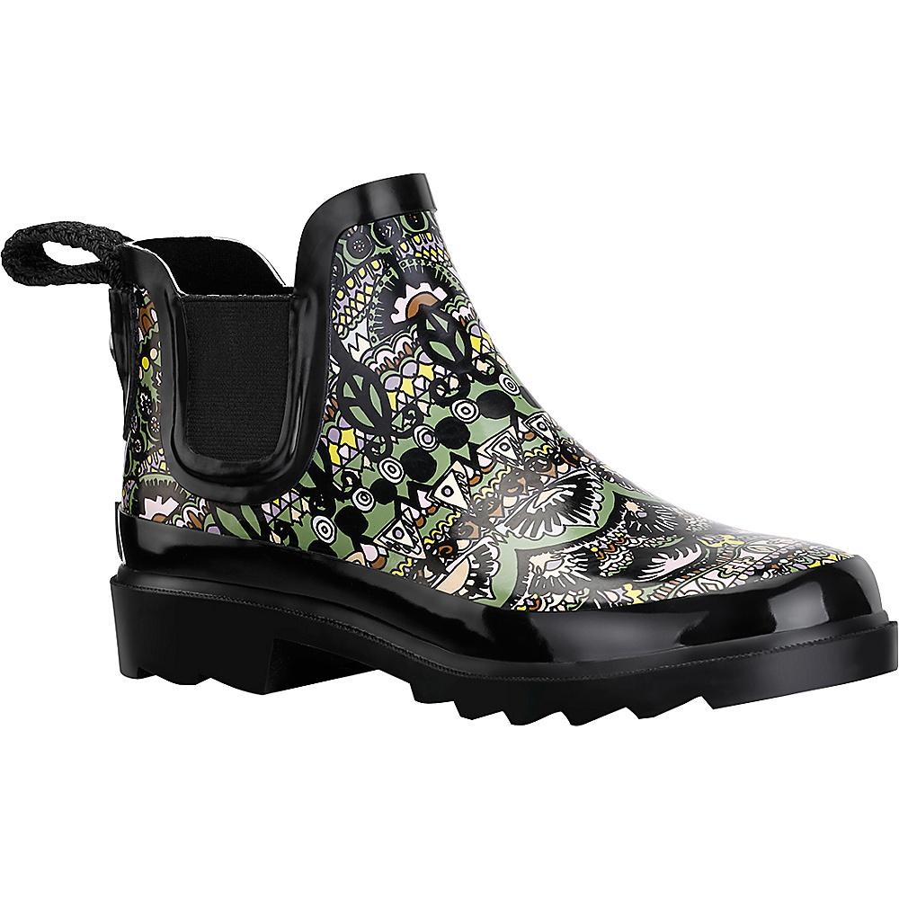 Sakroots Rhyme Ankle Rain Boot 7 - M (Regular/Medium) - Jasper One World - Sakroots Womens Footwear - Apparel & Footwear, Women's Footwear