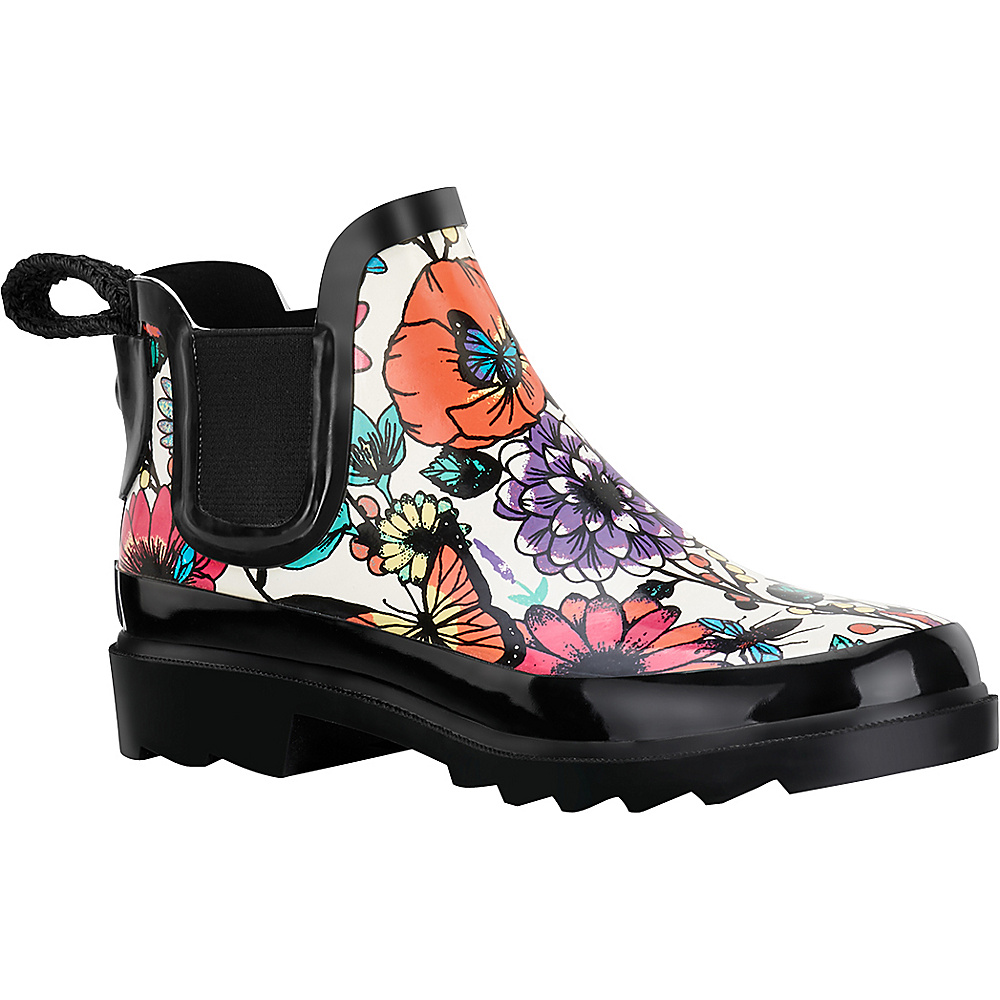 Sakroots Rhyme Ankle Rain Boot 6 - Optic In Bloom - Sakroots Womens Footwear - Apparel & Footwear, Women's Footwear