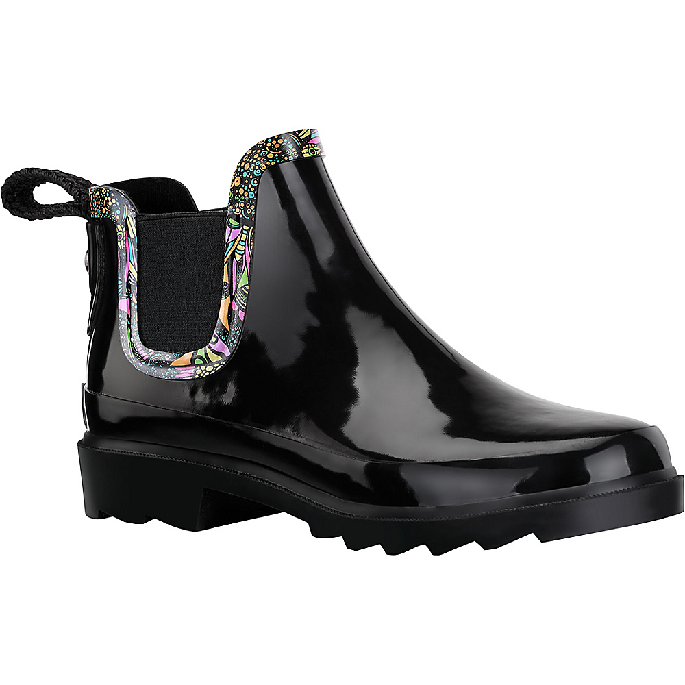 Sakroots Rhyme Ankle Rain Boot 8 M Regular Medium Black amp; White Spirit Sakroots Women s Footwear