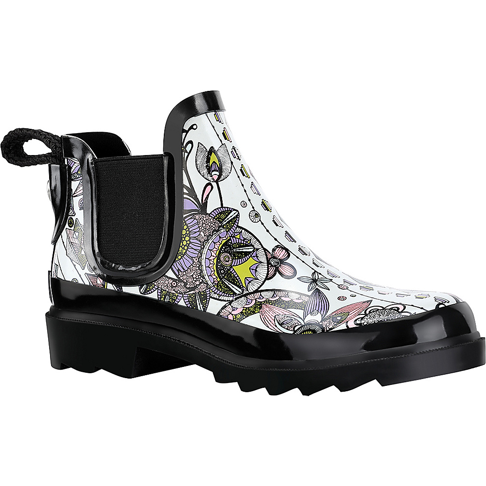 Sakroots Rhyme Ankle Rain Boot 10 M Regular Medium Black amp; White Spirit Sakroots Women s Footwear