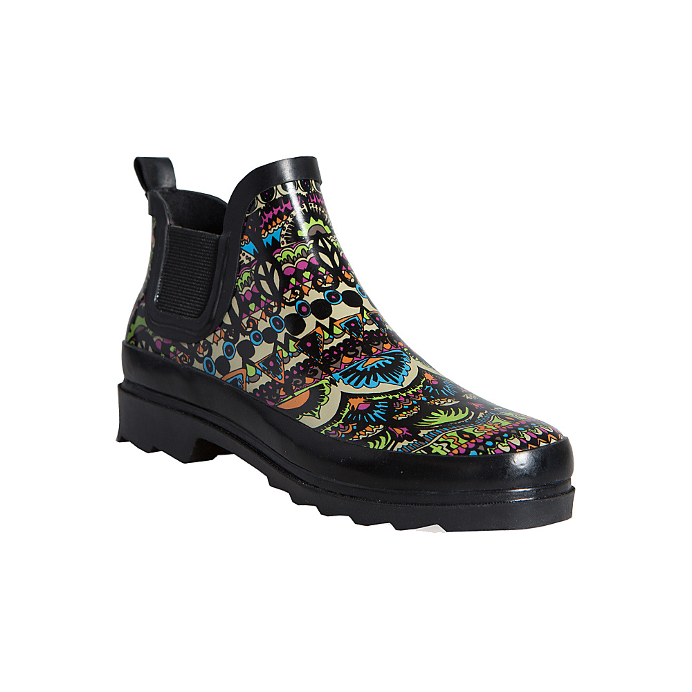 Sakroots Rhyme Ankle Rain Boot 8 M Regular Medium Neon One World Sakroots Women s Footwear