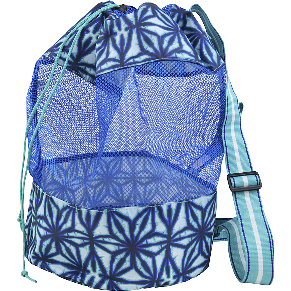 All For Color Mesh Sling Bag Indigo Batik - All For Color All-Purpose Totes