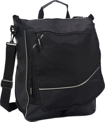 Goodhope Bags Two-Way Computer Messenger Bag Black - Goodhope Bags Messenger Bags
