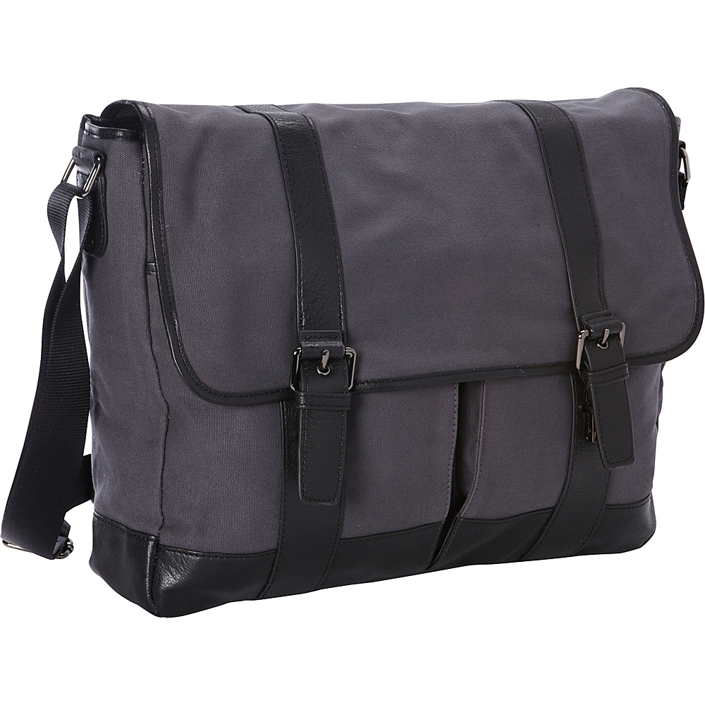 Goodhope Bags Noble Dual Tablet Computer Messenger Greyish Blue Goodhope Bags Messenger Bags