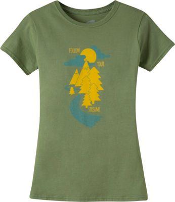 Mountain Khakis Follow Your Streams Short Sleeve T-Shirt S - Wheatgrass - Mountain Khakis Women's Apparel