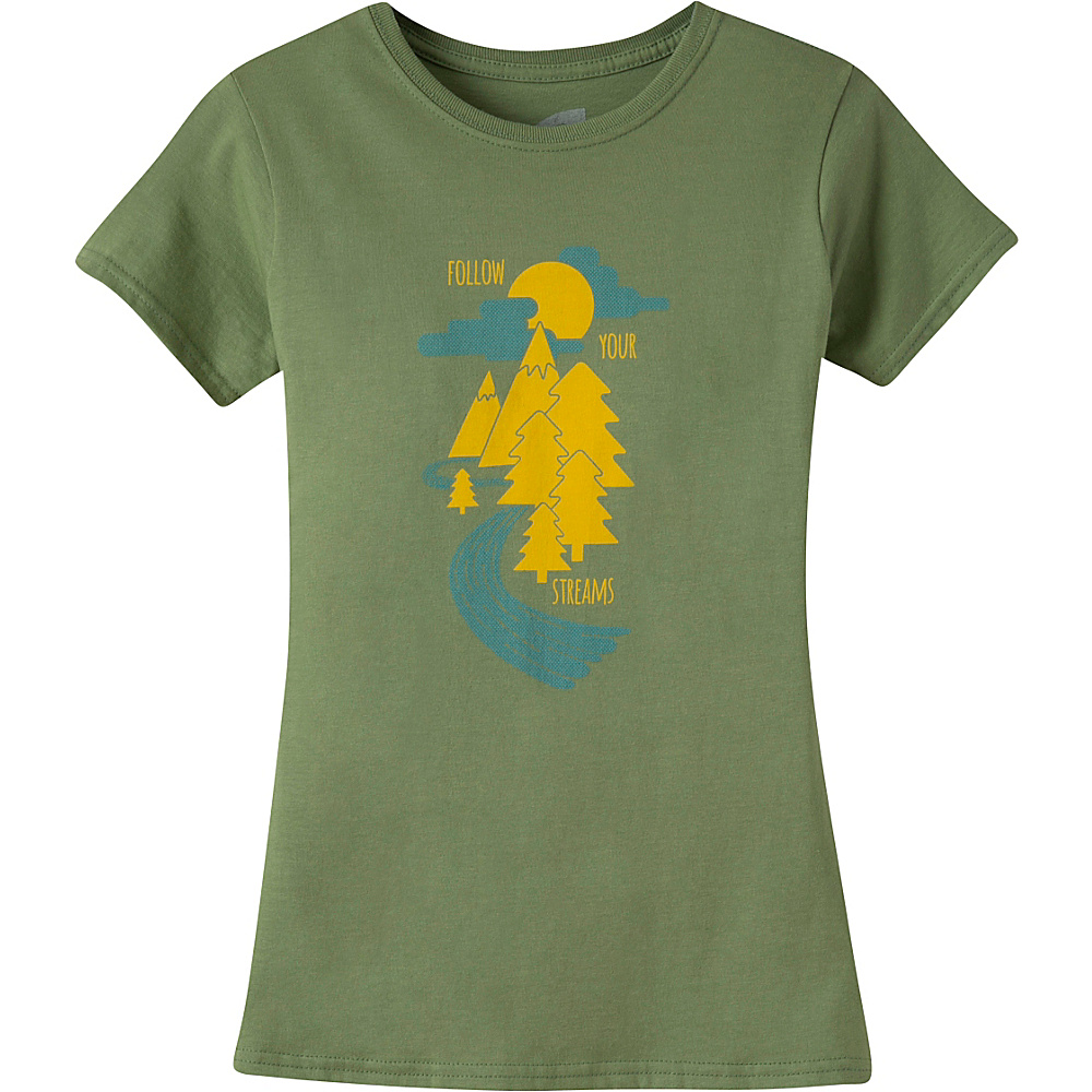 Mountain Khakis Follow Your Streams Short Sleeve T-Shirt S - Wheatgrass - Mountain Khakis Womens Apparel - Apparel & Footwear, Women's Apparel