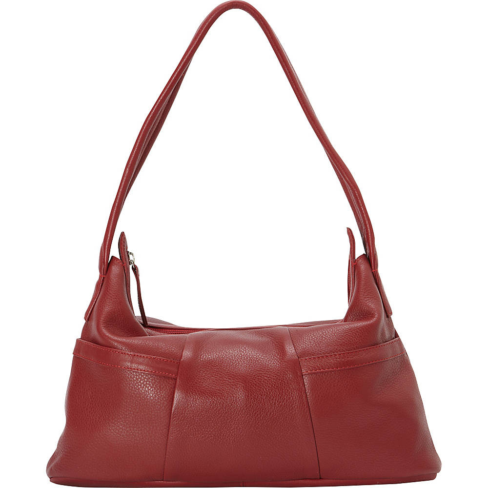 Derek Alexander Small Hobo Style EW Two Top Zip Red - Derek Alexander Leather Handbags - Handbags, Leather Handbags