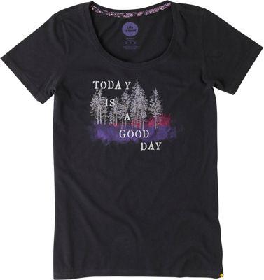 Life is good Women's Creamy Scoop Tee M - Night Black - Good Day - Life is good Women's Apparel