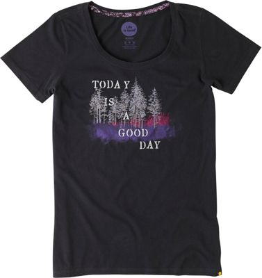 Life is good Women's Creamy Scoop Tee L - Night Black - Good Day - Life is good Women's Apparel