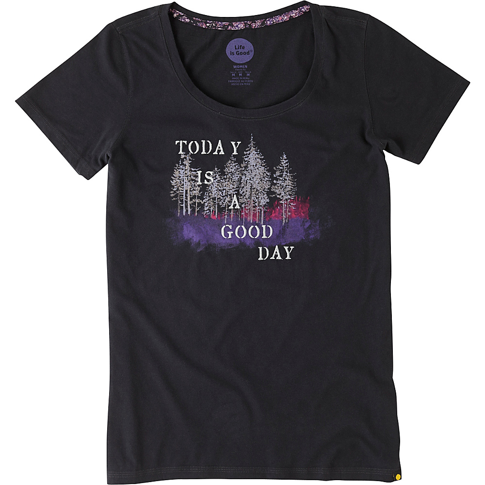 Life is good Women s Creamy Scoop Tee 2XL Night Black Good Day Life is good Women s Apparel