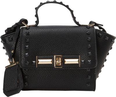 La Diva Mini Kelly Top Handle Black - La Diva Manmade Handbags
