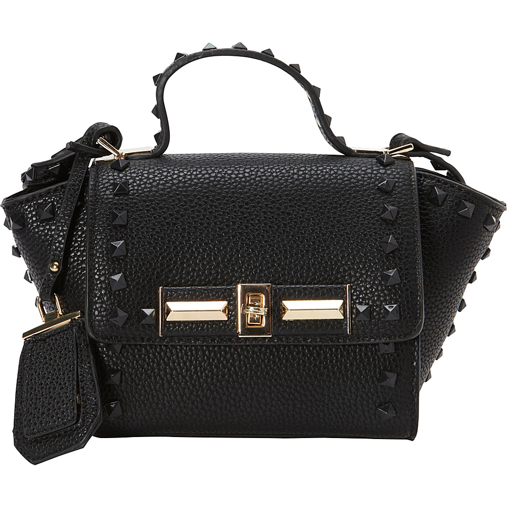 La Diva Mini Kelly Top Handle Black La Diva Manmade Handbags