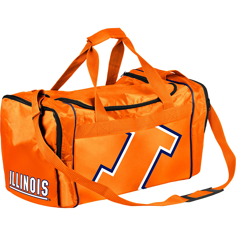 Forever Collectibles NCAA Forever Collectibles Core Duffle Bag University of Illinois Fighting Illini Orange Forever Collectibles Gym Duffels