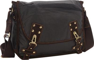TSD Dolphin Messenger Dark Brown - TSD Fabric Handbags
