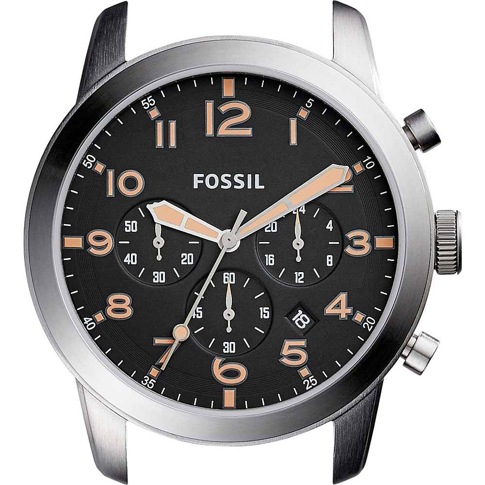 Fossil Pilot 54 44mm Chronograph Stainless Steel Watch Case Black - Fossil Watches - Fashion Accessories, Watches
