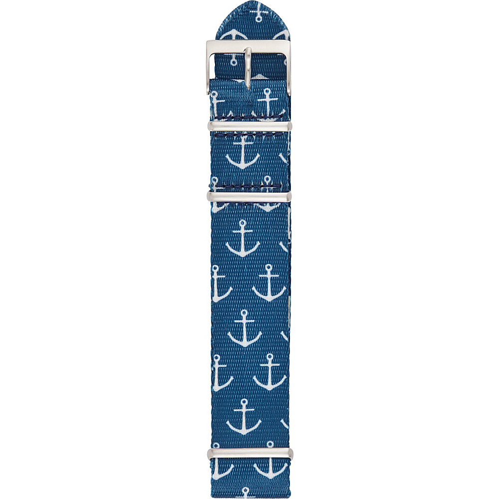 Fossil Nylon 22mm Watch Strap Blue Anchor - Fossil Watches - Fashion Accessories, Watches