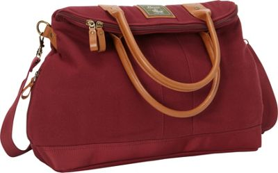 GH Bass & CO Luggage Tamarack Flap Over Carry On Bag Red - GH Bass & CO Luggage Rolling Duffels