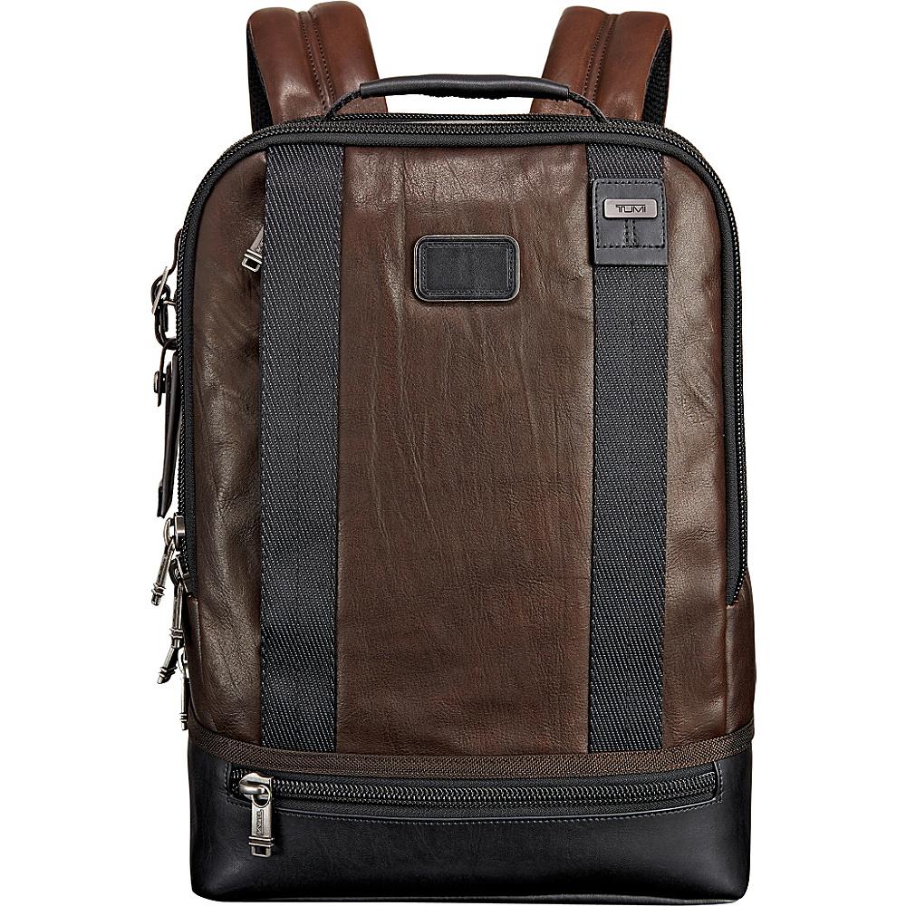 Tumi Alpha Bravo Dover Leather Backpack Dark Brown - Tumi Business & Laptop Backpacks - Backpacks, Business & Laptop Backpacks