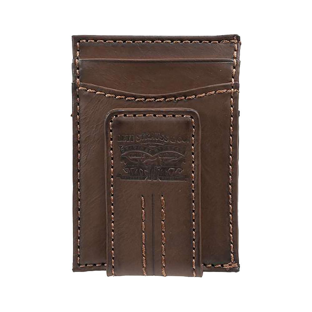 Levi s Magnetic Card Case Wallet BROWN Levi s Men s Wallets