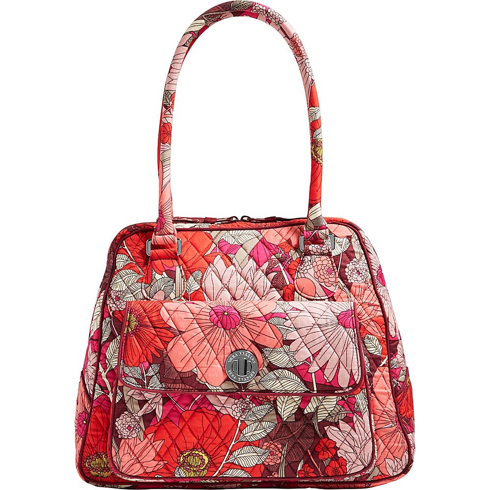 Vera Bradley Turnlock Satchel Bohemian Blooms - Vera Bradley Fabric Handbags - Handbags, Fabric Handbags