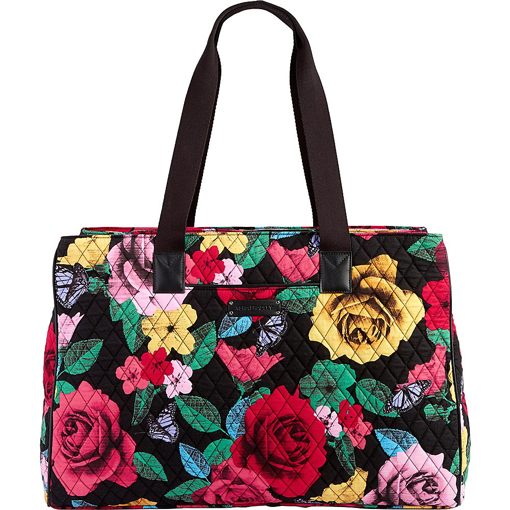 Vera Bradley Triple Compartment Travel Bag Havana Rose with Black - Vera Bradley Fabric Handbags - Handbags, Fabric Handbags