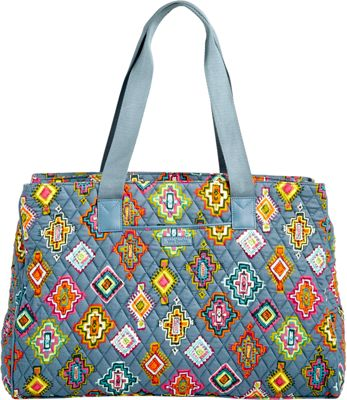 Vera Bradley Triple Compartment Travel Bag Painted Medallions - Vera Bradley Fabric Handbags