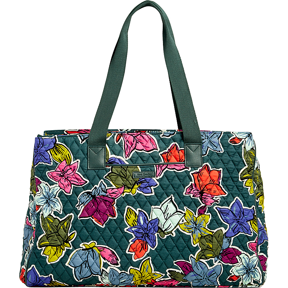Vera Bradley Triple Compartment Travel Bag Falling Flowers - Vera Bradley Fabric Handbags - Handbags, Fabric Handbags
