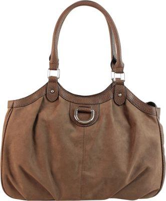 Emilie M Sydney 4-Poster Shoulder Bag Mink - Emilie M Manmade Handbags