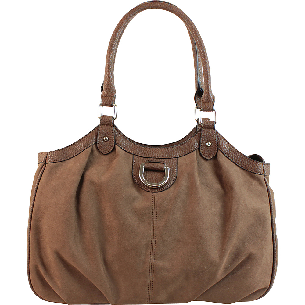 Emilie M Sydney 4 Poster Shoulder Bag Mink Emilie M Manmade Handbags
