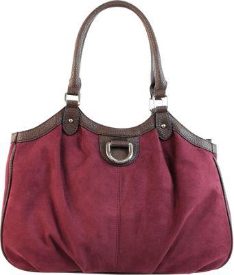 Emilie M Sydney 4-Poster Shoulder Bag Plum - Emilie M Manmade Handbags
