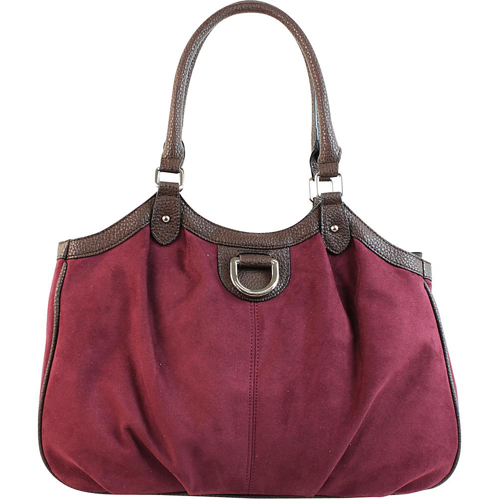 Emilie M Sydney 4 Poster Shoulder Bag Plum Emilie M Manmade Handbags