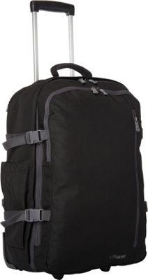 Lite Gear Rolling Travel Pack Black - Lite Gear Rolling Duffels