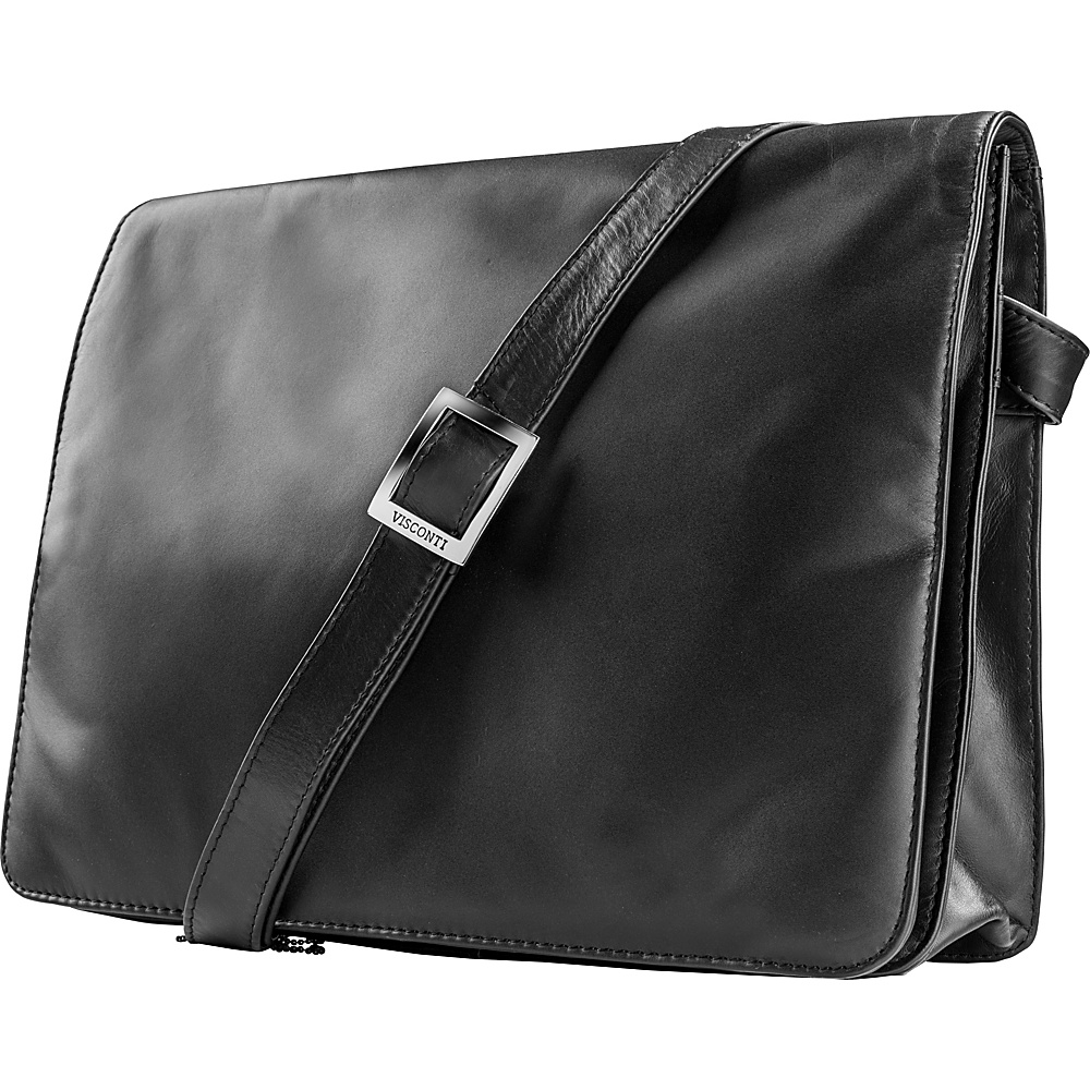 Visconti Womens Flap over Shoulder Crossbody Bag and Messenger Bag Black Visconti Messenger Bags
