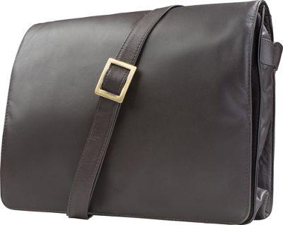 Visconti Womens Flap-over Shoulder Crossbody Bag and Messenger Bag Chocolate - Visconti Messenger Bags