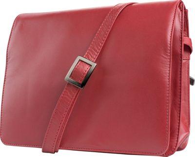 Visconti Womens Flap-over Shoulder Crossbody Bag and Messenger Bag Red - Visconti Messenger Bags