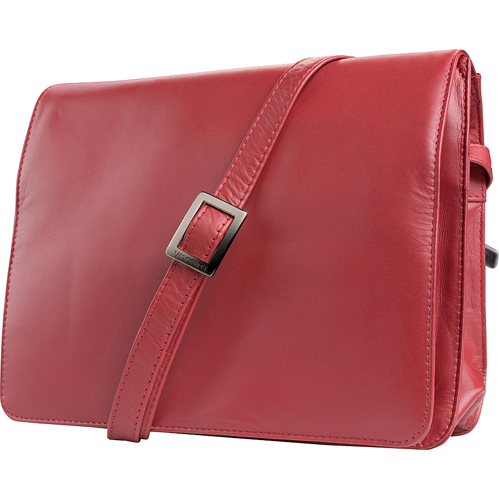 Visconti Womens Flap over Shoulder Crossbody Bag and Messenger Bag Red Visconti Messenger Bags