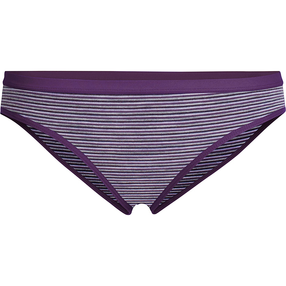 Icebreaker Womens Siren Bikini L - Eggplant/Silk Heather/Stripe - Icebreaker Womens Apparel - Apparel & Footwear, Women's Apparel