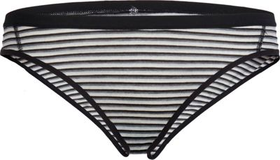 Icebreaker Womens Siren Bikini L - Black/Snow/Stripe - Icebreaker Women's Apparel
