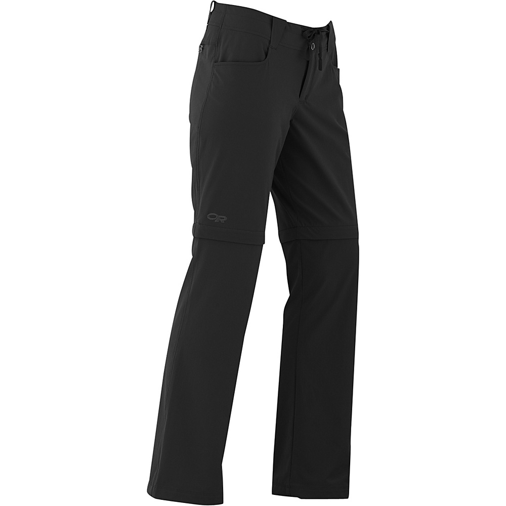 Outdoor Research Womens Ferrosi Convertible Pants 8 - Black - Outdoor Research Womens Apparel - Apparel & Footwear, Women's Apparel
