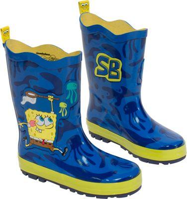 Kidorable SpongeBob Rain Boots 12 (US Kid's) - M (Regular/Medium) - Blue - Kidorable Men's Footwear