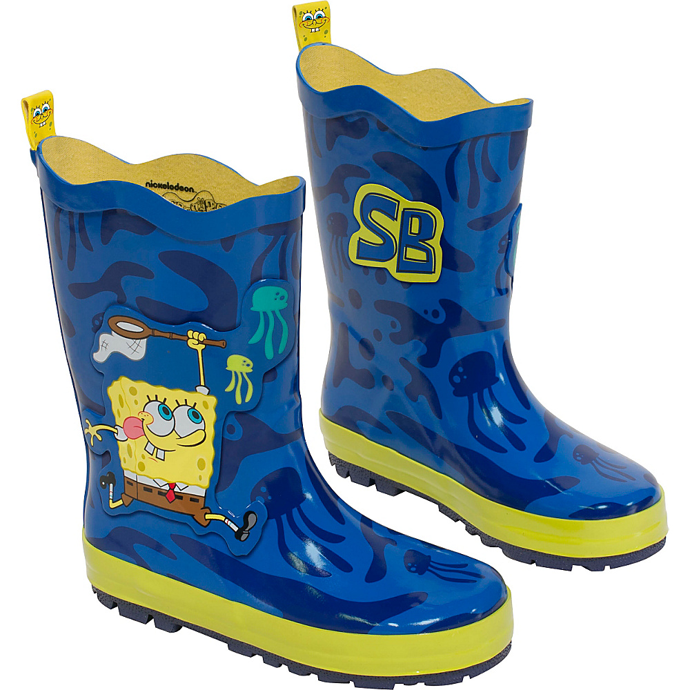 Kidorable SpongeBob Rain Boots 1 (US Kids) - M (Regular/Medium) - Blue - Kidorable Mens Footwear - Apparel & Footwear, Men's Footwear