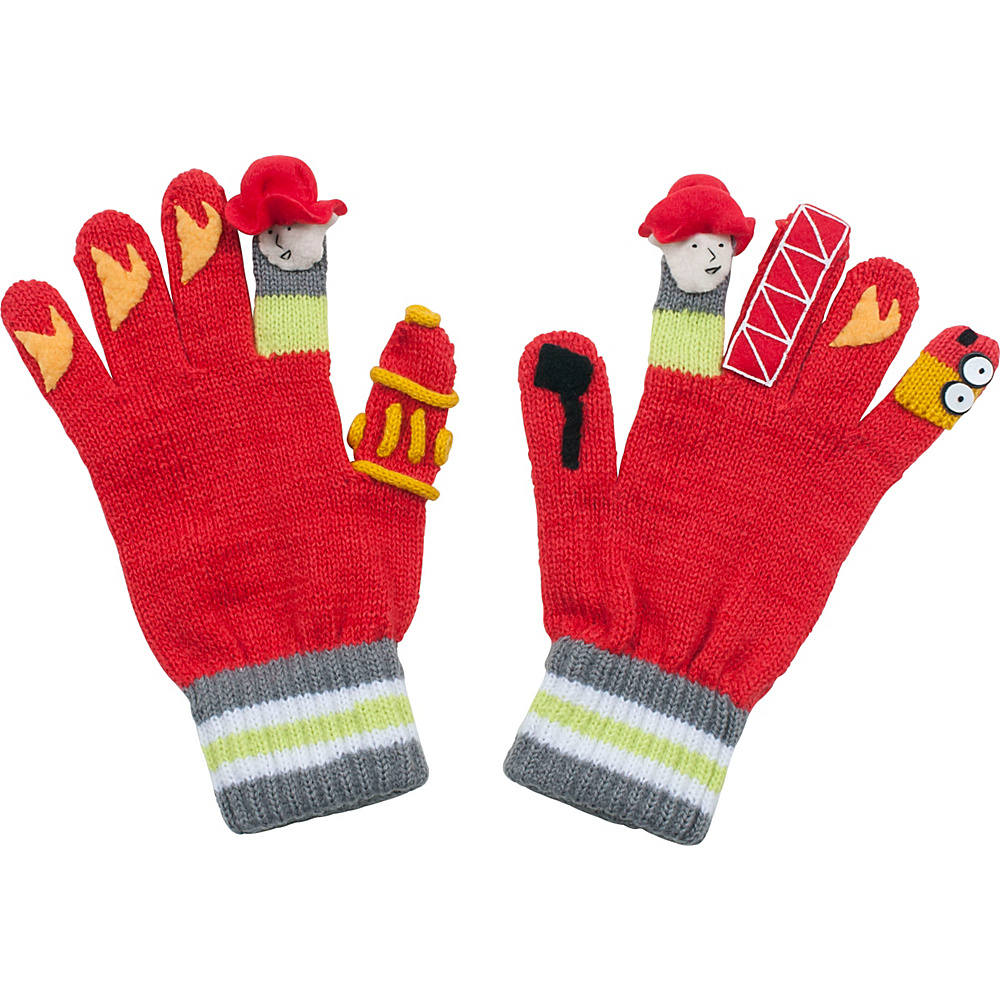Kidorable Fireman Knit Gloves Red Large Kidorable Hats Gloves Scarves