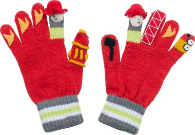 Kidorable Fireman Knit Gloves M - Red - Kidorable Hats/Gloves/Scarves