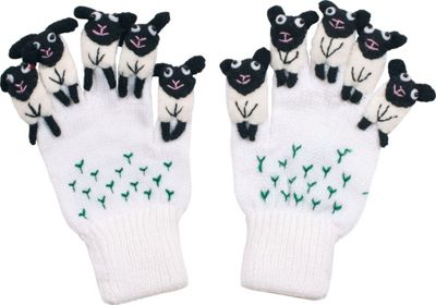 Kidorable Sheep Knit Gloves M - White - Kidorable Hats/Gl...
