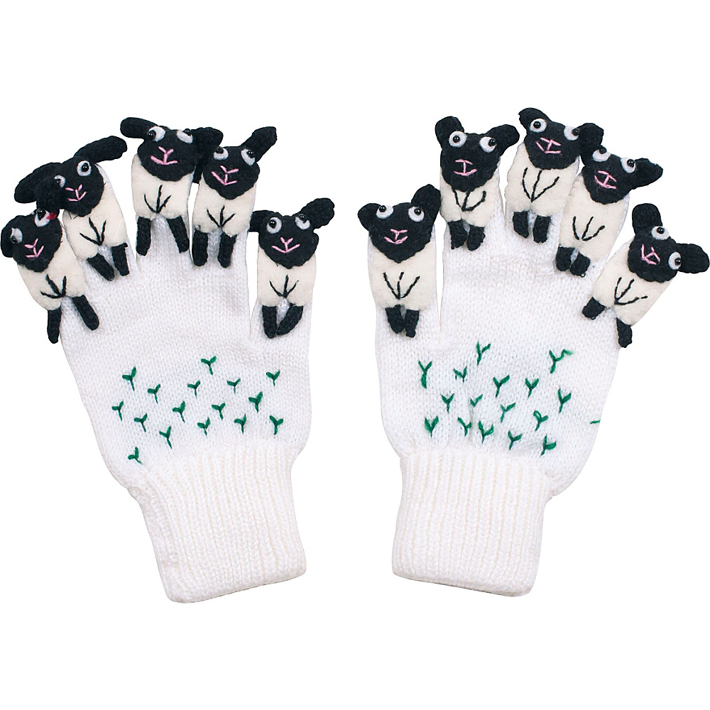 Kidorable Sheep Knit Gloves White Medium Kidorable Hats Gloves Scarves
